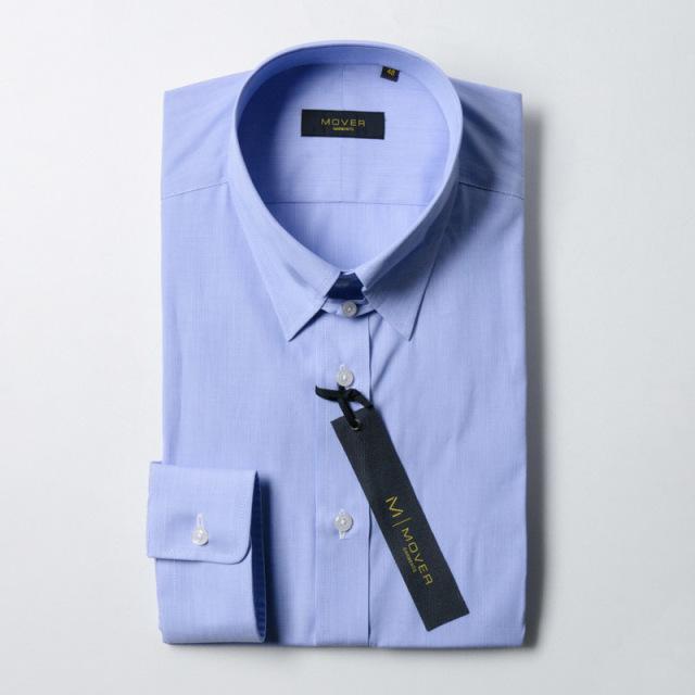 タブカラーシャツサックス