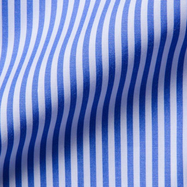 タブカラーシャツブルーロンドンストライプ