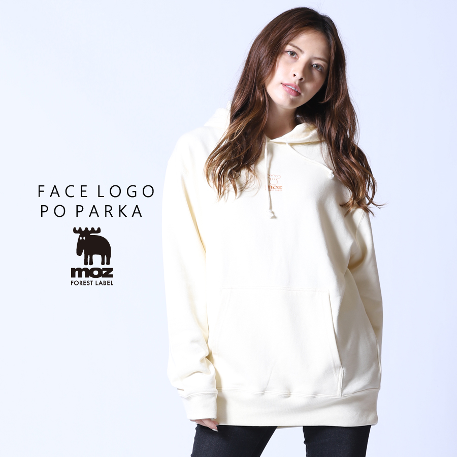 moz FOREST LABEL  FACE LOGO プルオーバーパーカー◆