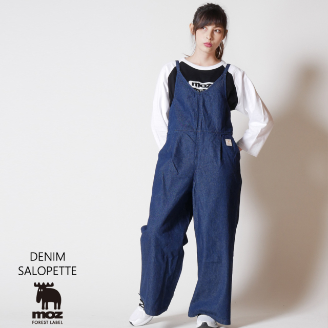 moz FOREST LABEL  デニムサロペット◆