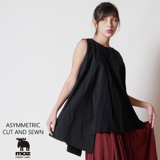moz FOREST LABEL  アシンメトリーカットソー◆