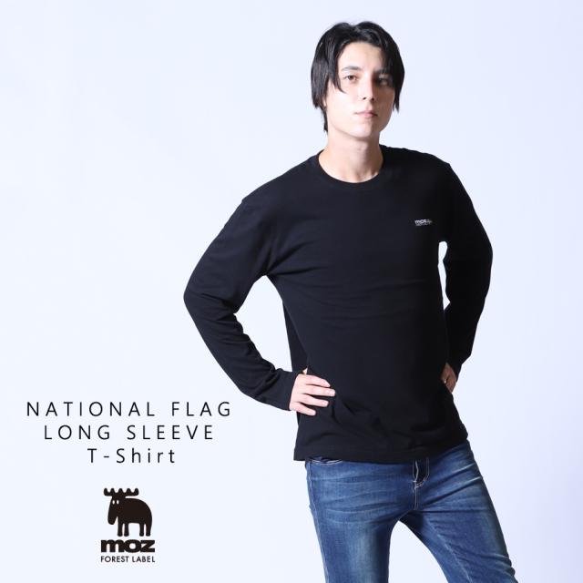 moz FOREST LABEL  NATIONAL FLAG 長袖Tシャツ◆