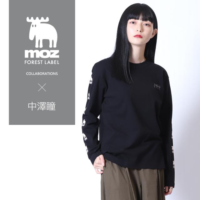 中澤瞳×moz FOREST LABEL コラボ長袖Tシャツ