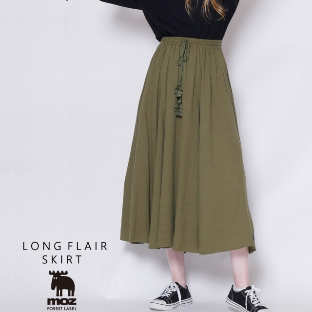 moz FOREST LABEL  ロングフレアスカート◆