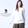 moz FOREST LABEL  NATIONAL FLAG 長袖Tシャツ◆