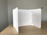組立式卓上パーテーション ラミ紙ボードタイプ(5個セット)
