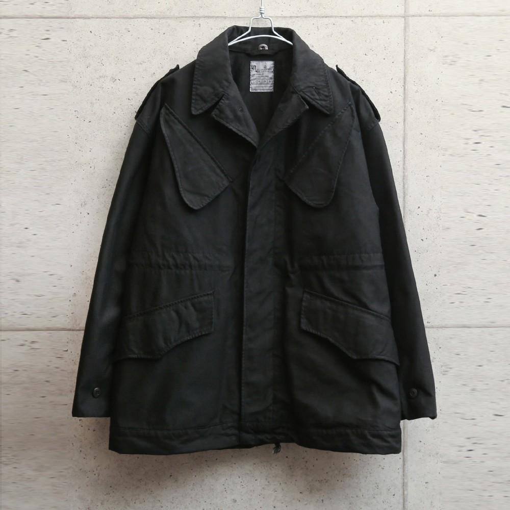 実物 新品 デッドストック オランダ軍 1980年代 NATO フィールドジャケット BLACK染め
