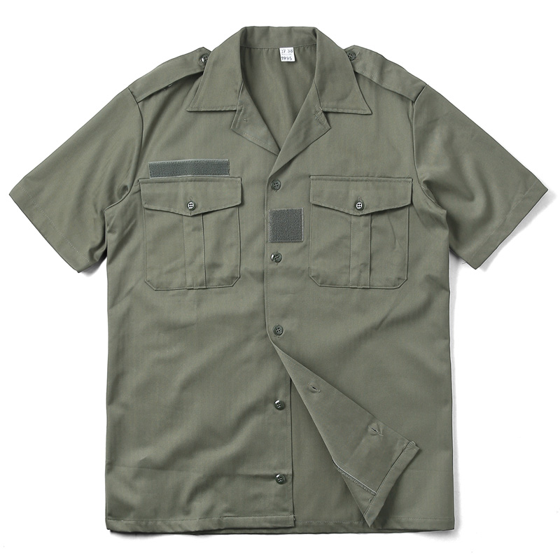 実物 新品 フランス軍 HBT チャド 半袖シャツ オリーブ