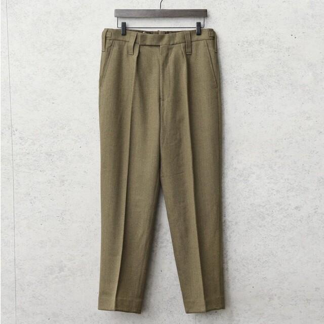 実物 新品 デッドストック イギリス陸軍 ALL RANKS No.2 DRESS ウール トラウザーズ / オフィサーパンツ ブラウン WOOL100%
