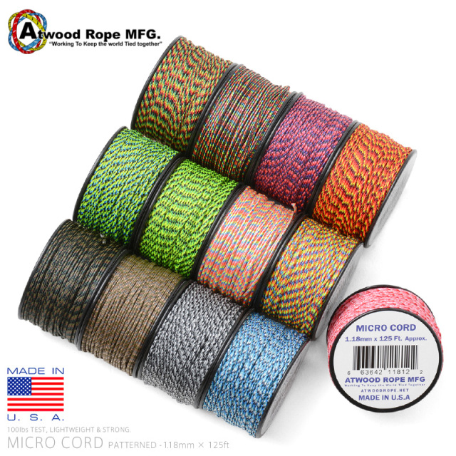 ATWOOD ROPE MFG. 1.18mm × 125FT MICROコード PATTERNED