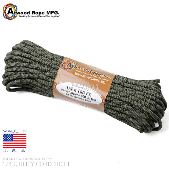 ATWOOD ROPE MFG. アトウッド・ロープ 1/4×100FT ユーティリティコード