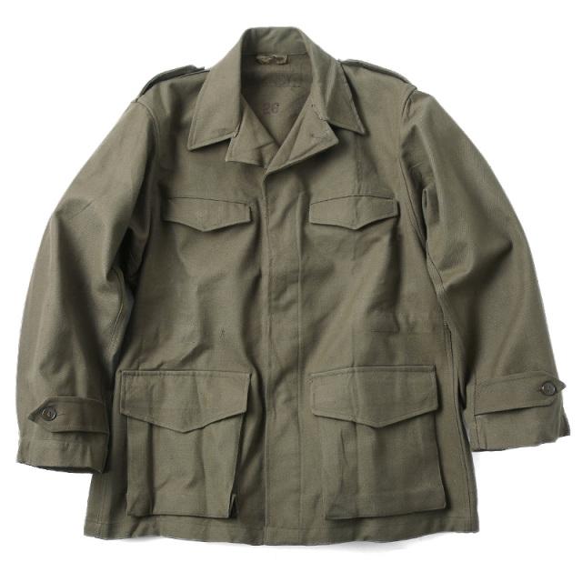 実物 新品 フランス軍 M-47 フィールドジャケット 前期型 コットン製 #1