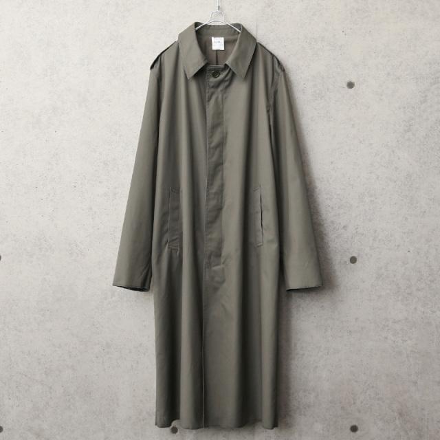 実物 新品 デッドストック フランス軍 オフィサー ステンカラーコート 裾、袖口、ロック始末処理
