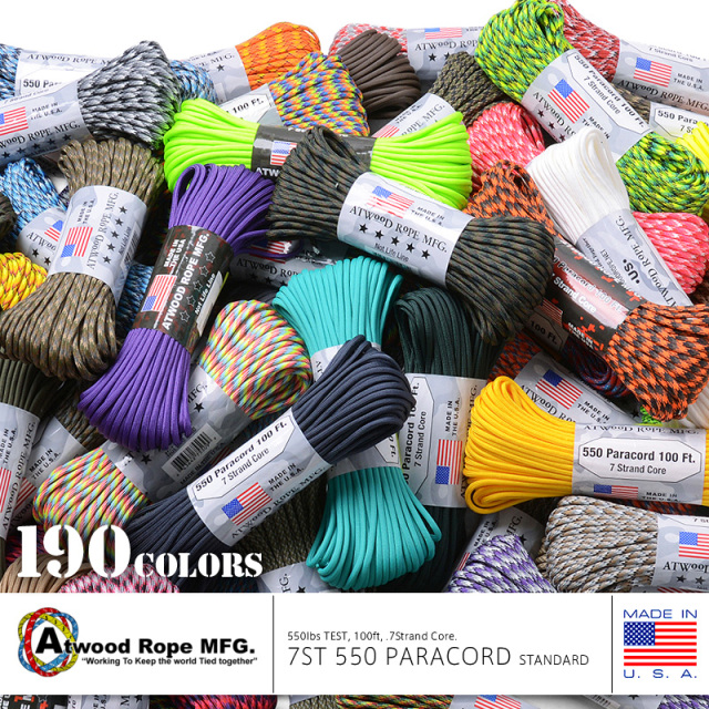 ATWOOD ROPE MFG. 7Strand 550Lbs パラコード 100FT