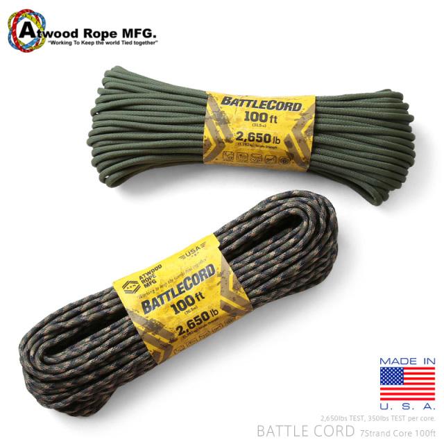 ATWOOD ROPE MFG. アトウッド・ロープ 7Strand 2650Lbs バトルコード 100FT