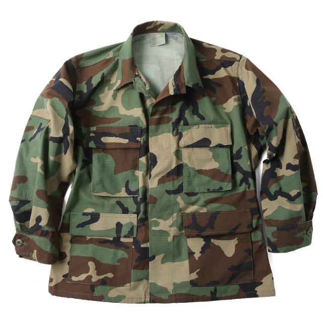 実物 新品 米軍 BDU WOODLAND CAMO ジャケット