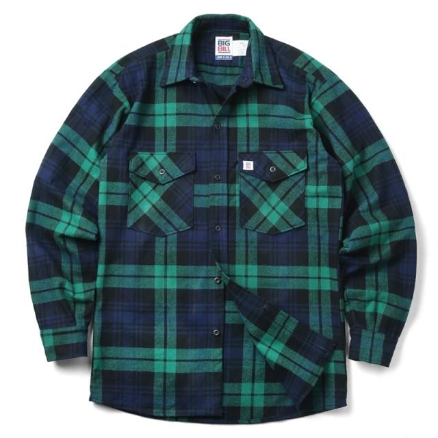 BIG BILL 121 L/S 9oz Premium Brawny Flannel ヘビーウェイト ワークシャツ タータンチェック MADE IN USA