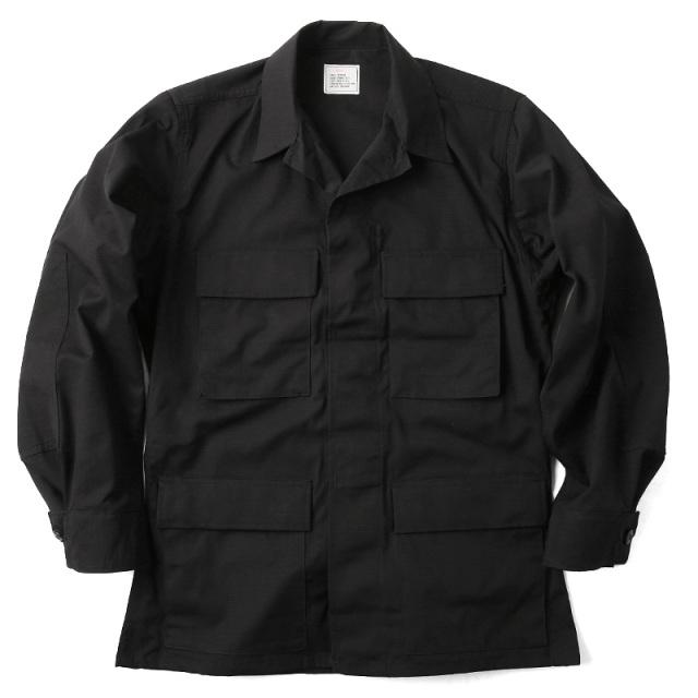 実物 新品 米軍 ブラック リップストップジャケット BLACK357