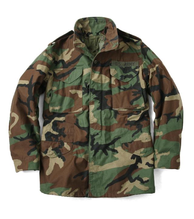 実物 米軍G.I. M-65 フィールドジャケット USED WOODLAND