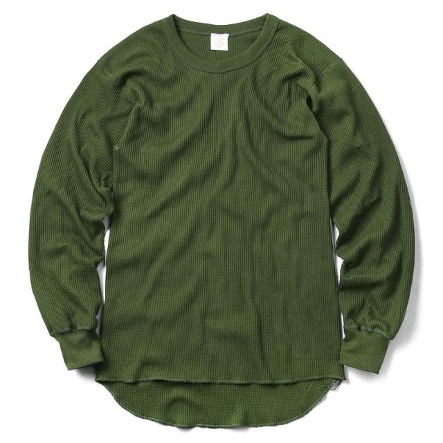 実物 新品 カナダ軍 ARMY L/S ワッフル Tシャツ カナダ製