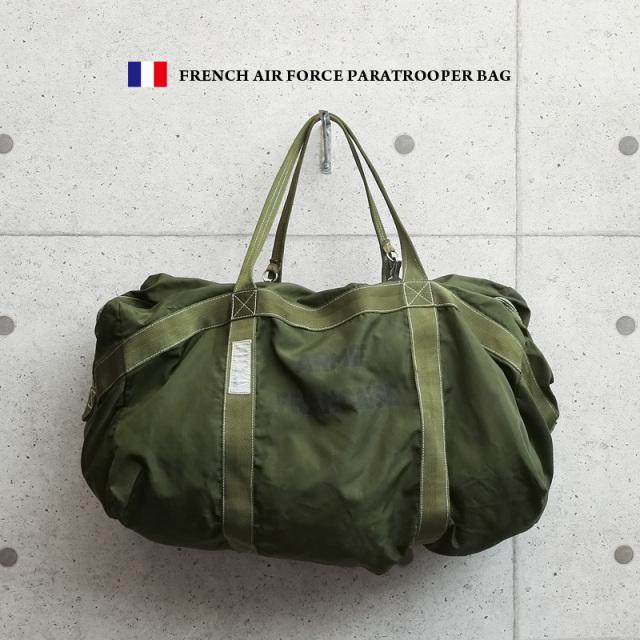 希少 実物 フランス軍 AIR FORCE PARATROOPER パラシュートバッグ USED