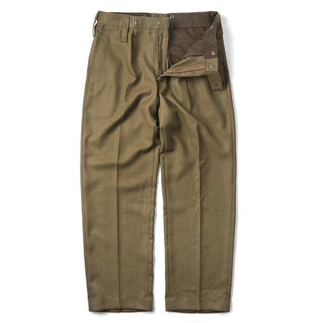 実物 新品 イギリス陸軍 ALL RANKS BARRACK DRESS トラウザーズ / オフィサーパンツ ブラウン