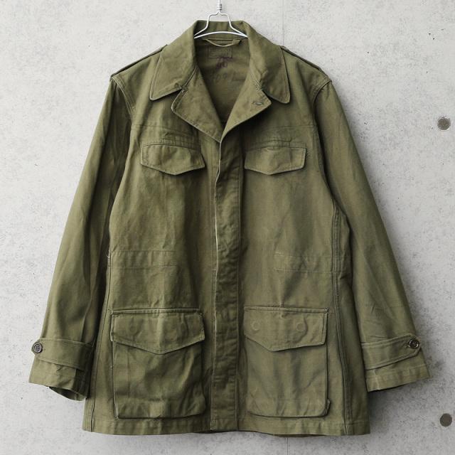 実物 USED フランス軍 M-47 フィールドジャケット 前期型 コットン製 #1