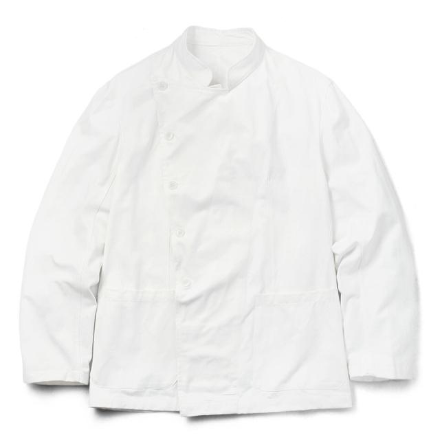 実物 新品 イタリア軍 コックジャケット ホワイト