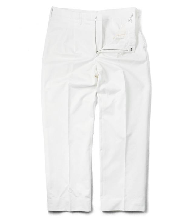 実物 新品 イタリア デッドストック ドレスパンツ ホワイト