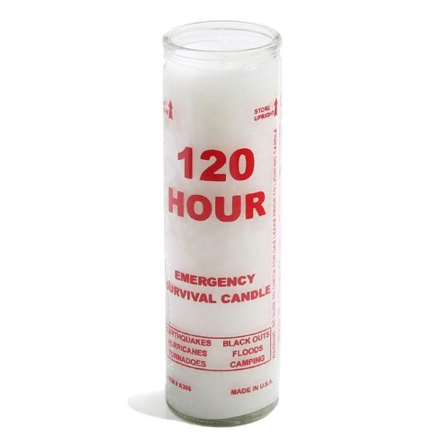MADE IN USA EMERGENCY 120時間 サヴァイバルキャンドル (ろうそく)
