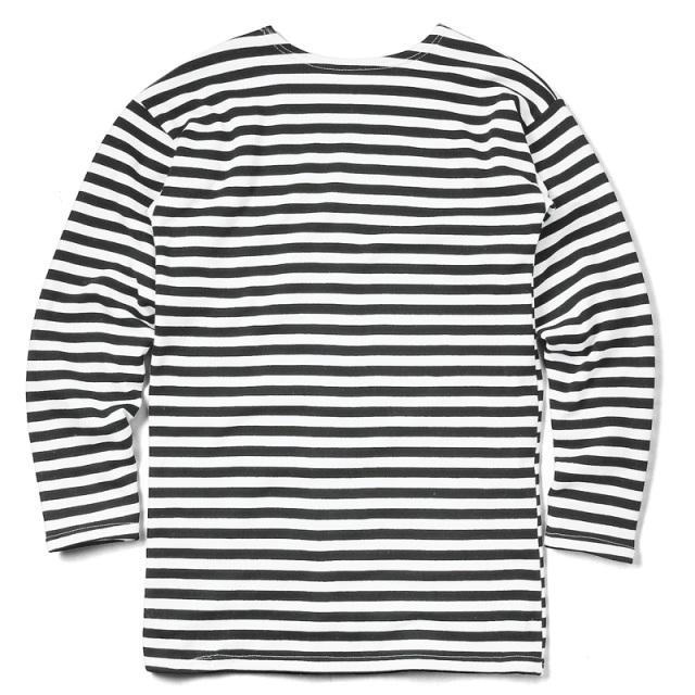 実物 新品 ロシア軍 L/S ヘビーウェイト ボーダー Tシャツ