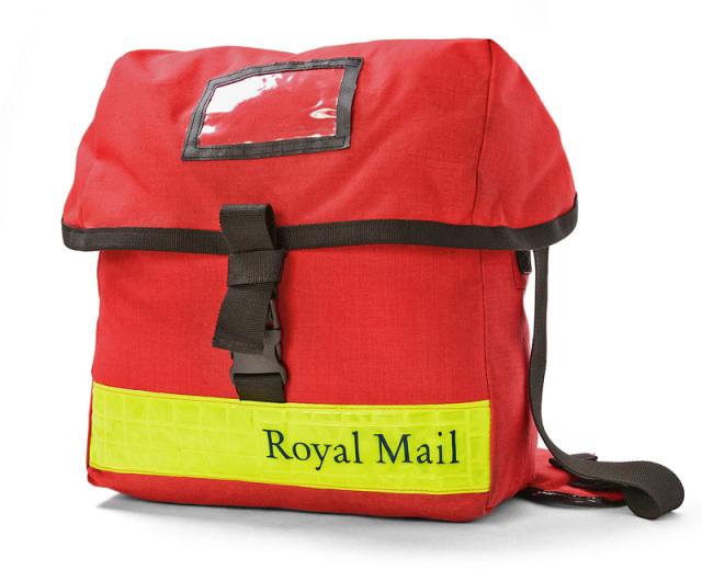 実物 イギリス ROYAL MAIL メッセンジャーバッグ SMALL イエローリフレクター USED