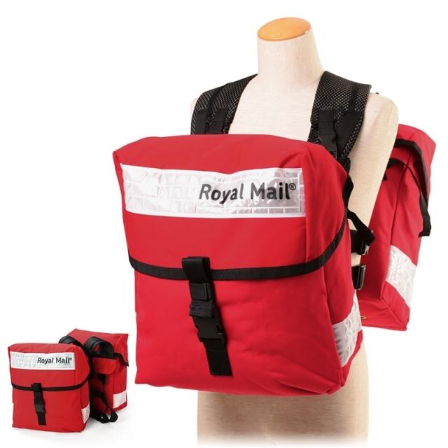 実物 新品 イギリス ROYAL MAILバッグ ホワイトリフレクター 2個セット ロイヤルメール