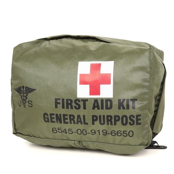 実物 新品 米軍 FIRST AID KIT GENERAL PURPOSE ポーチ