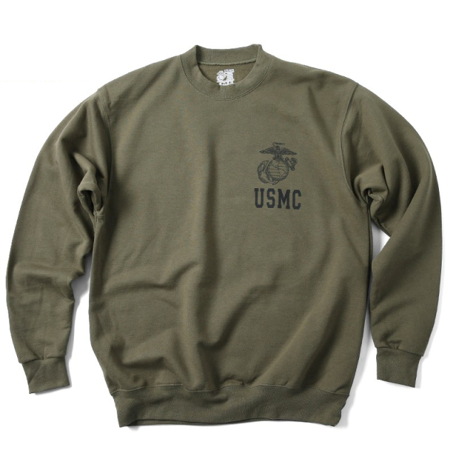 実物 新品 米軍 U.S.M.C. スウェットシャツ