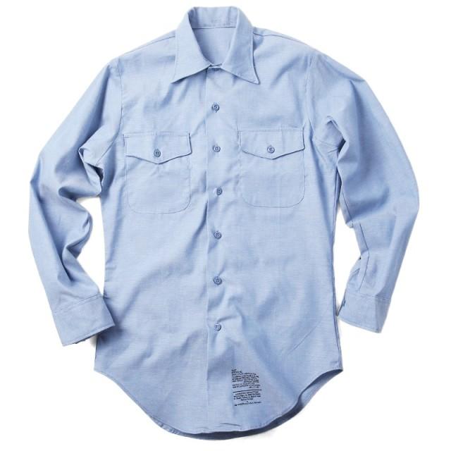 実物 新品 米軍ユーティリティーシャンブレーシャツ