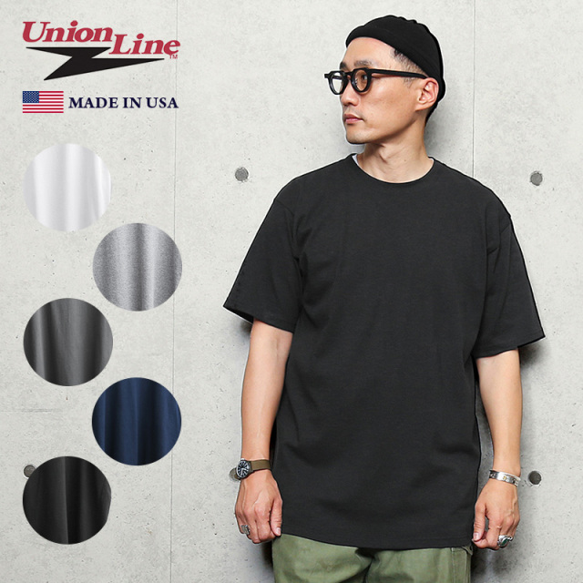 UNION LINE ユニオンライン 10331 半袖 クルーネックTシャツ MADE IN USA
