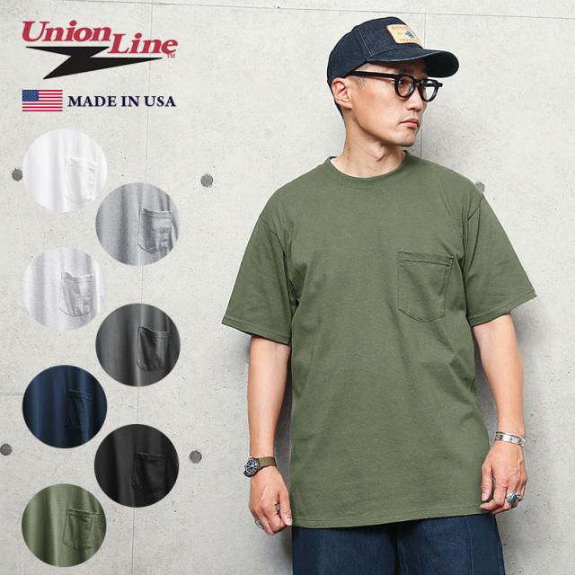 UNION LINE ユニオンライン 10336 SHORT 半袖 ポケットTシャツ MADE IN USA