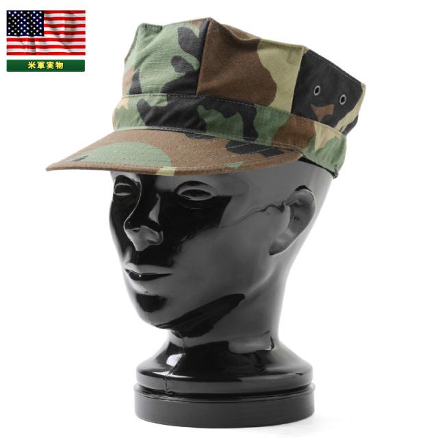 実物 新品 米軍 ユーティリティーキャップ WOODLAND CAMOUFLAGE, PATTERN TYPE II 米軍放出品