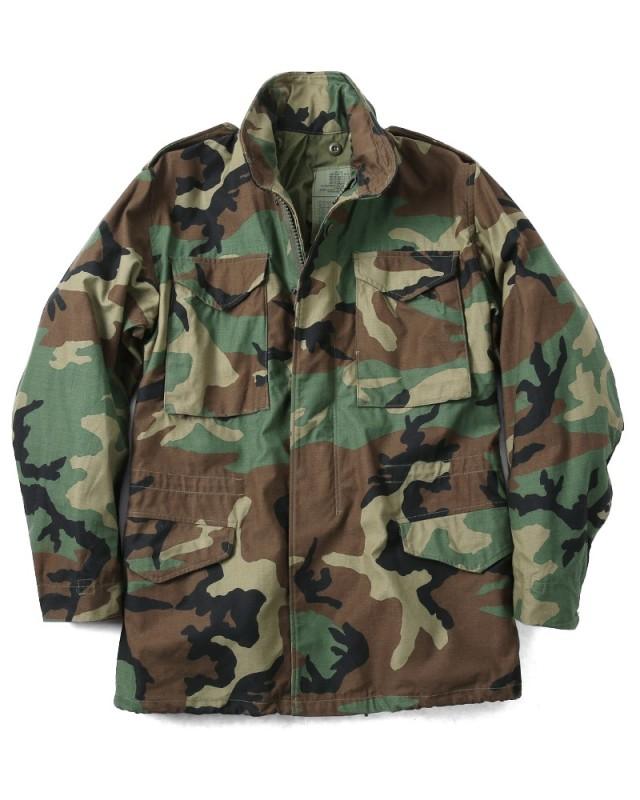 実物 新品 米軍G.I. M-65 フィールドジャケット WOODLAND