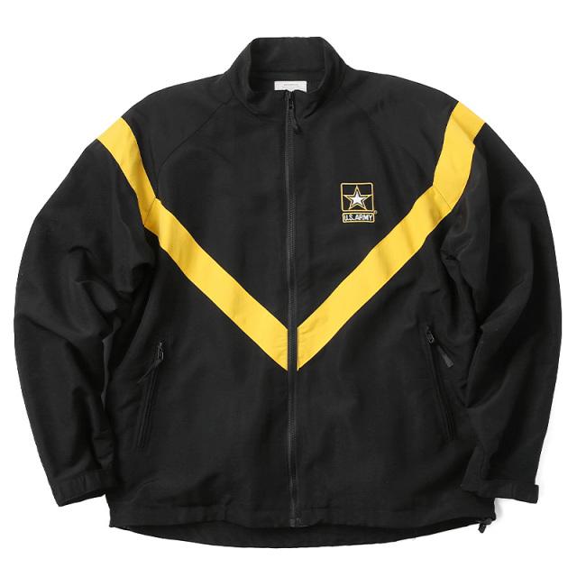 実物 新品 米軍 U.S.ARMY BLACK APFU トレーニングジャケット