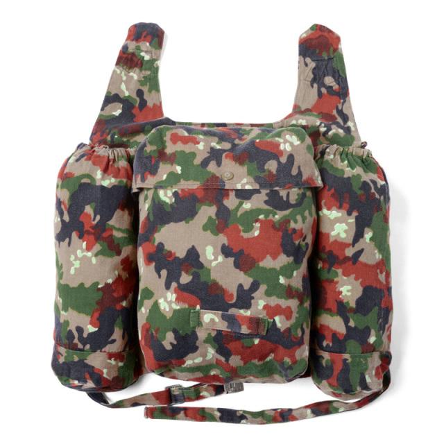 実物 スイス軍 マウンテンジャケット用アルペンカモバックパック USED