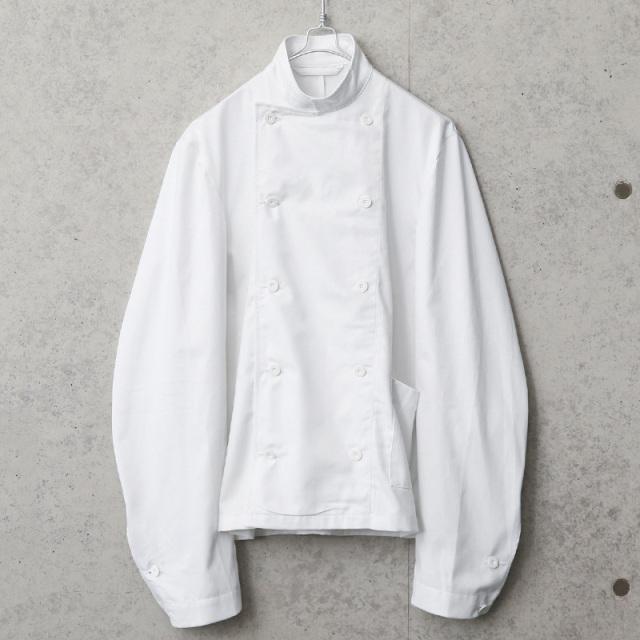実物 新品 デッドストック スウェーデン軍 コックジャケット ホワイト