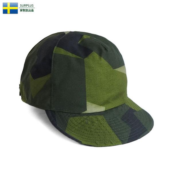 実物 新品 スウェーデン軍 M90 CAMO キャップ ミリタリー
