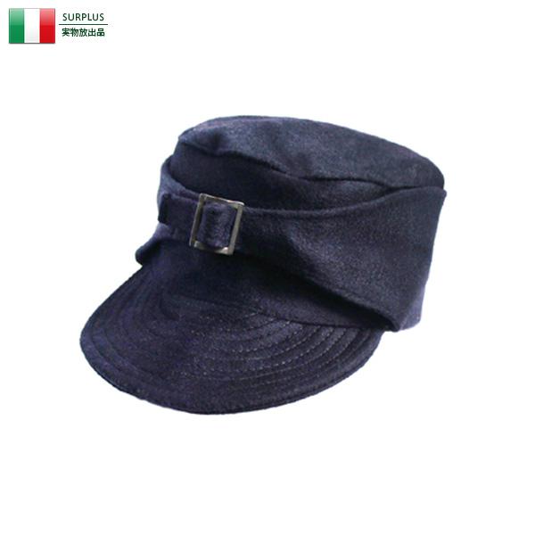 実物 新品 イタリア軍 ウールキャップ NAVY ミリタリー
