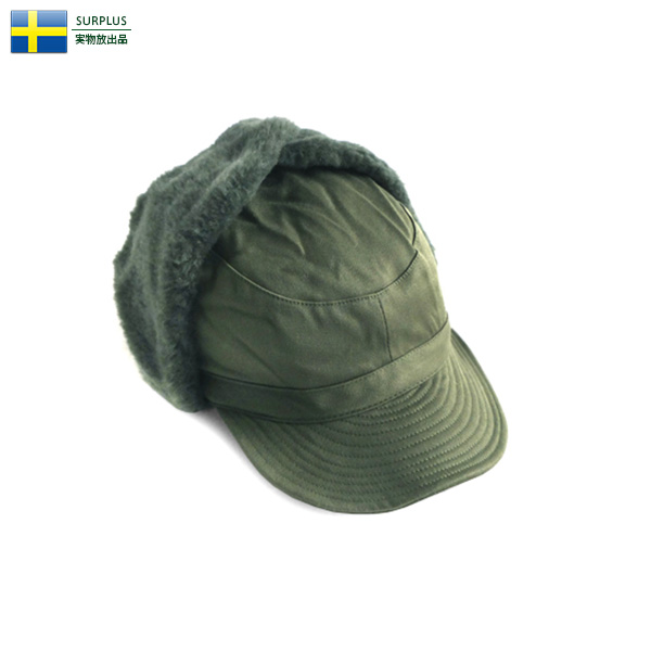 実物 新品 スウェーデン軍 ウィンター フライヤーズキャップ