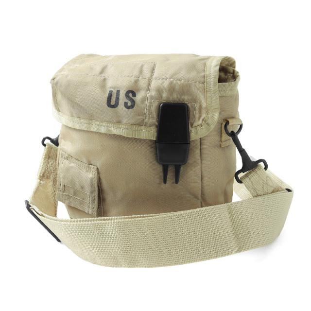 実物 新品 米軍 2QT ウォーターキャンティーンカバー ストラップ セット TAN