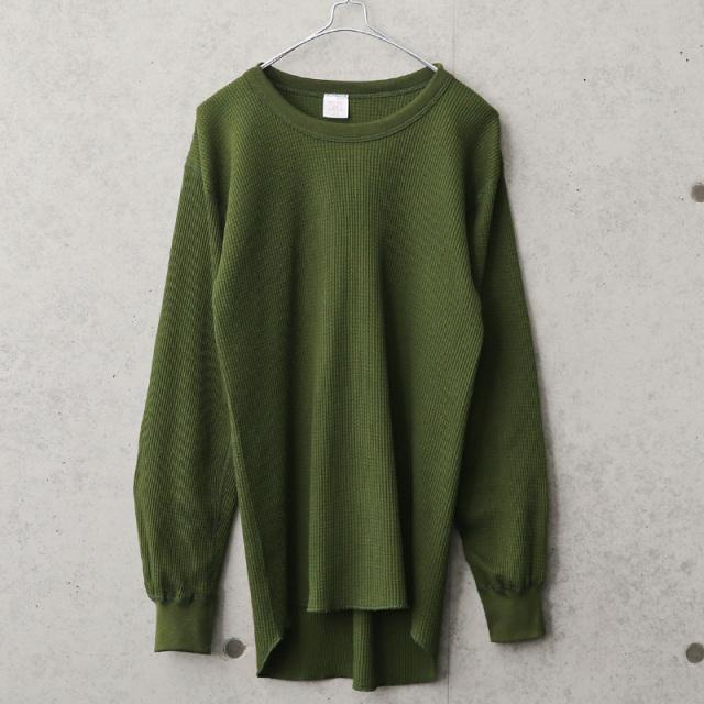実物 新品 デッドストック カナダ軍 サーマル ロングスリーブ Tシャツ カナダ製