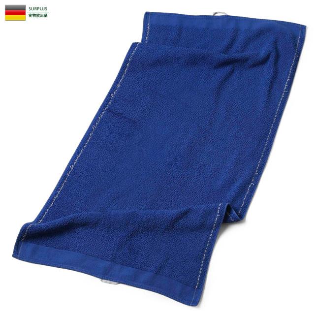 実物 USED ドイツ軍 タオル BLUE ミリタリー 軍放出品