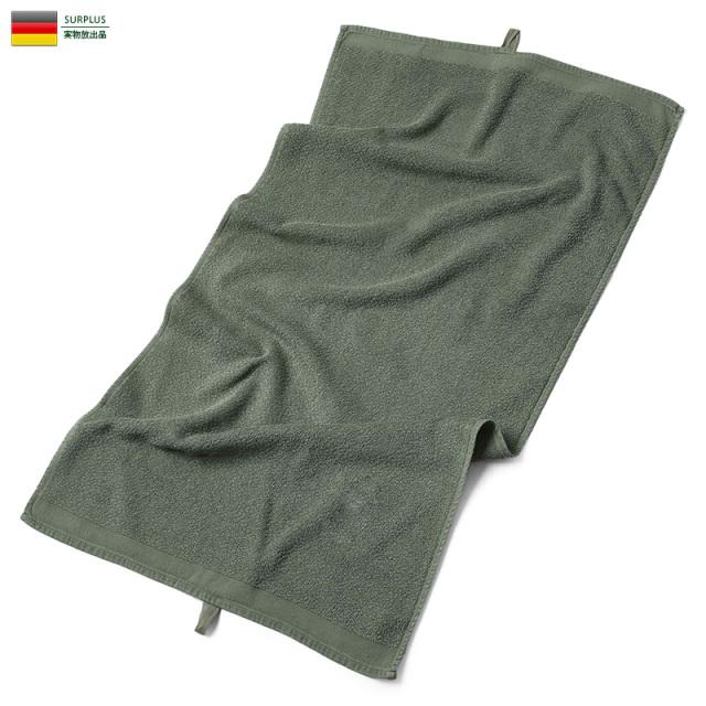 実物 USED ドイツ軍 タオル OLIVE ミリタリー 軍放出品